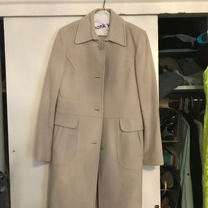 DKNY light grey wool/cashmere coat size 10